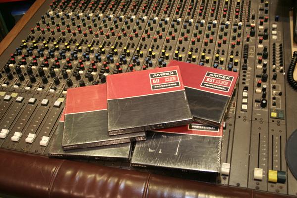 AMPEX社のビンテージ・リール・テープ達。全てデッドストック品。