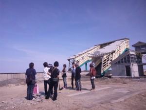 2011年6月福岡KBC TV「ドーモ」の収録で山元町に訪れる。