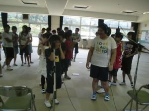 2011年夏、小学校でのレコーディング風景