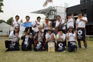 2013年、2014年と2年連続出演している東北六魂祭。 TOHOKU ROCK'N BANDのバンマスとして出演。