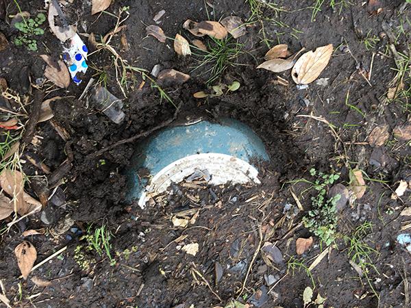 地中深くに埋まっていたフライパン